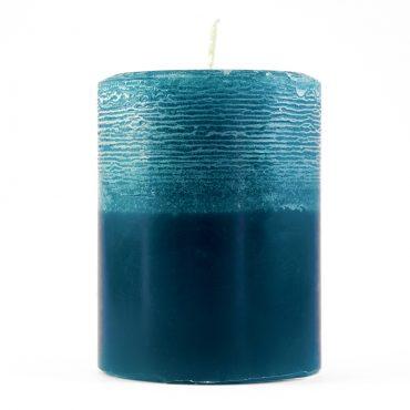 Petrolej plava rustic chic svijeća